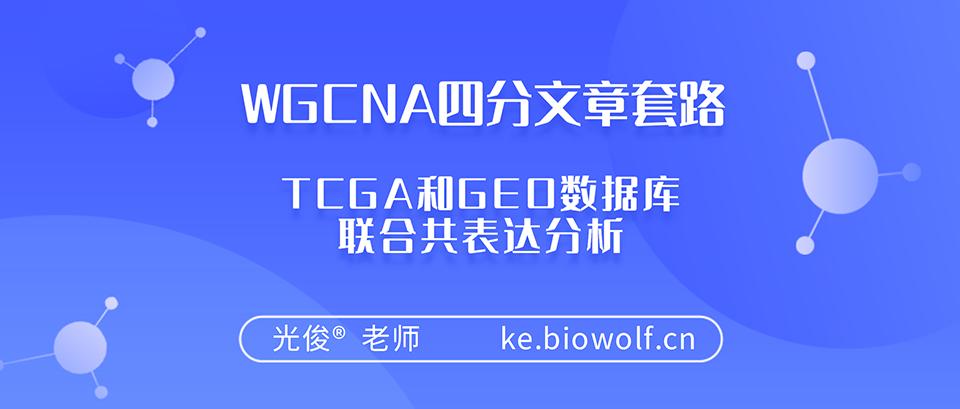 WGCNA四分文章套路视频(TCGA和GEO数据库联合共表达分析)