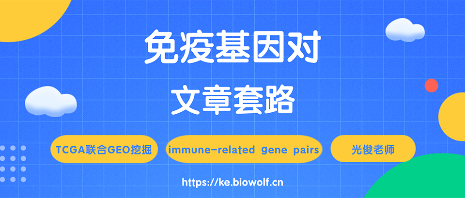 免疫基因对文章套路视频(immune-related gene pairs)